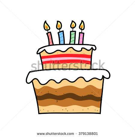 450x456 Birthday Cake Hand Drawn Vector Illustration Stock Vector Unique
