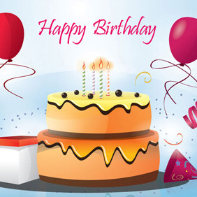282x282 Birthday Cake Vector By Free Vector Download 209445