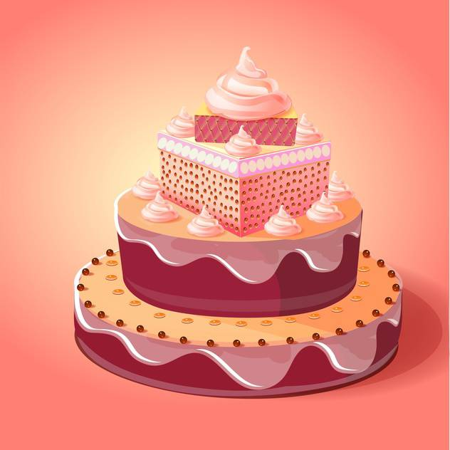 632x632 Birthday Cake Vector Illustration Free Vector Download 133077