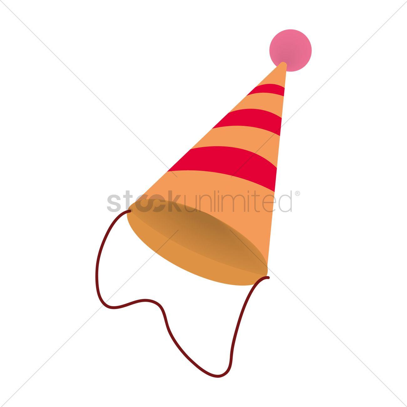 1300x1300 Birthday Hat Vector Image