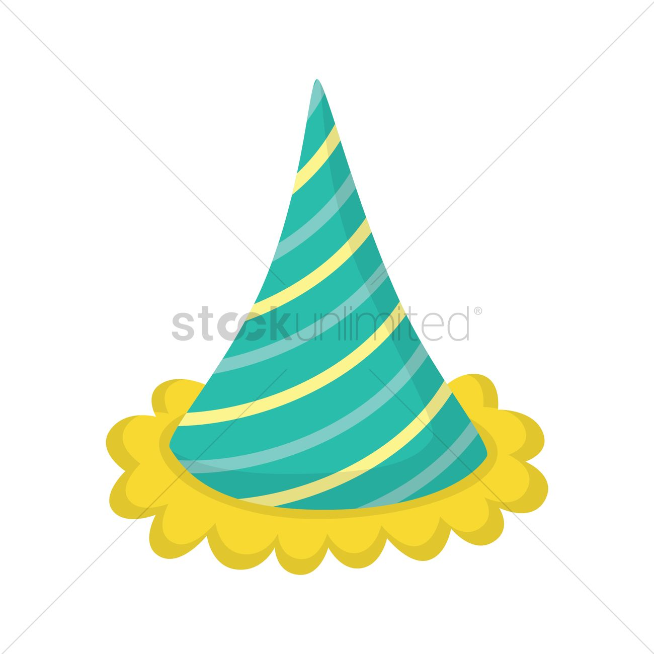 1300x1300 Free Birthday Hat Vector Image