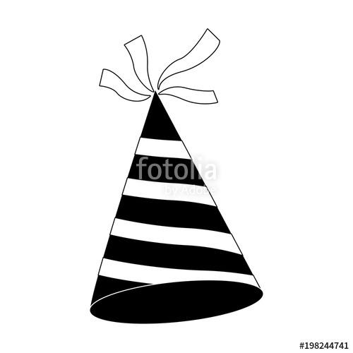 500x500 Happy Birthday Hat Vector Illustration Graphic Design Stock Image