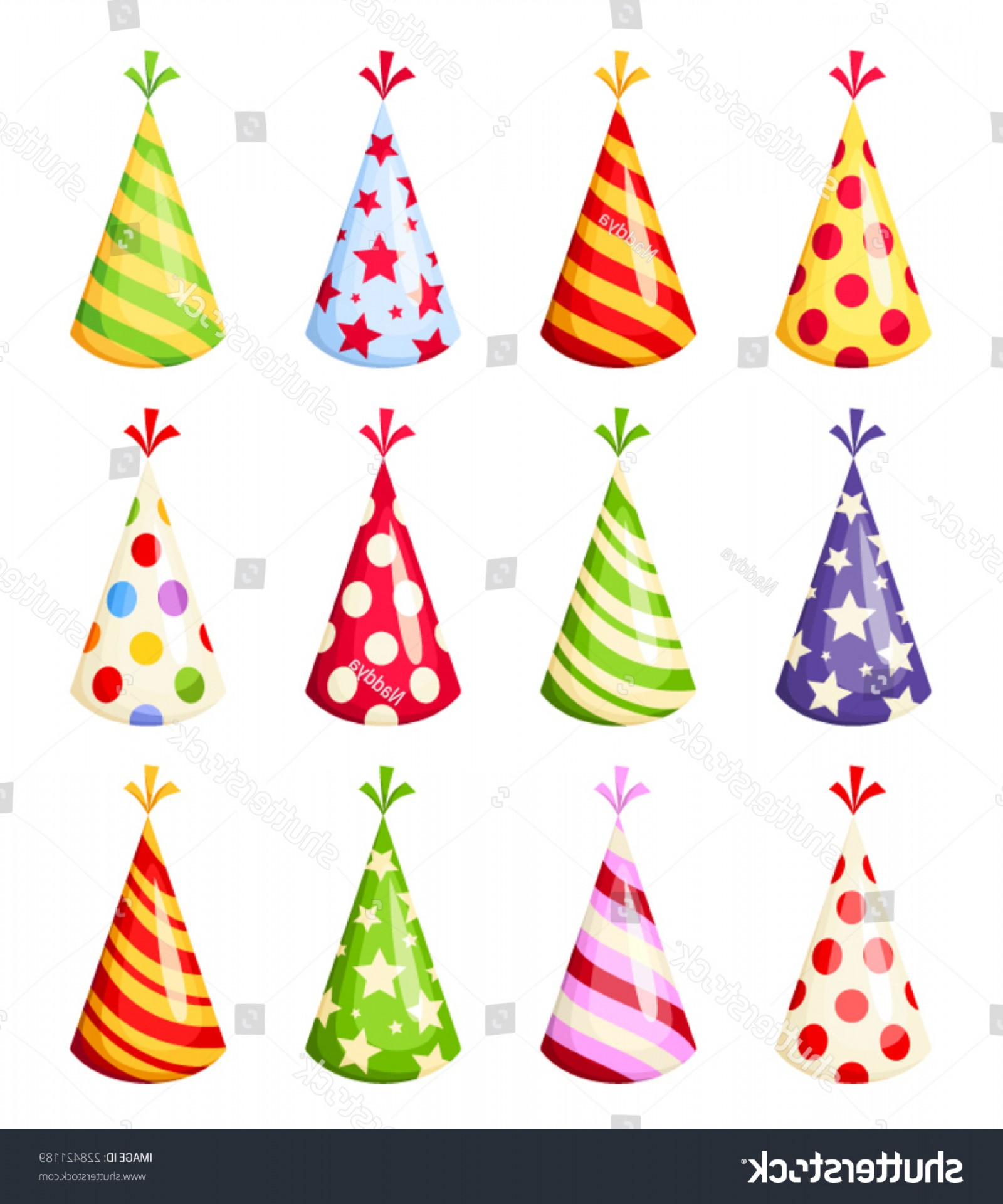 1600x1920 Set Colorful Party Hats Vector Illustration Lazttweet