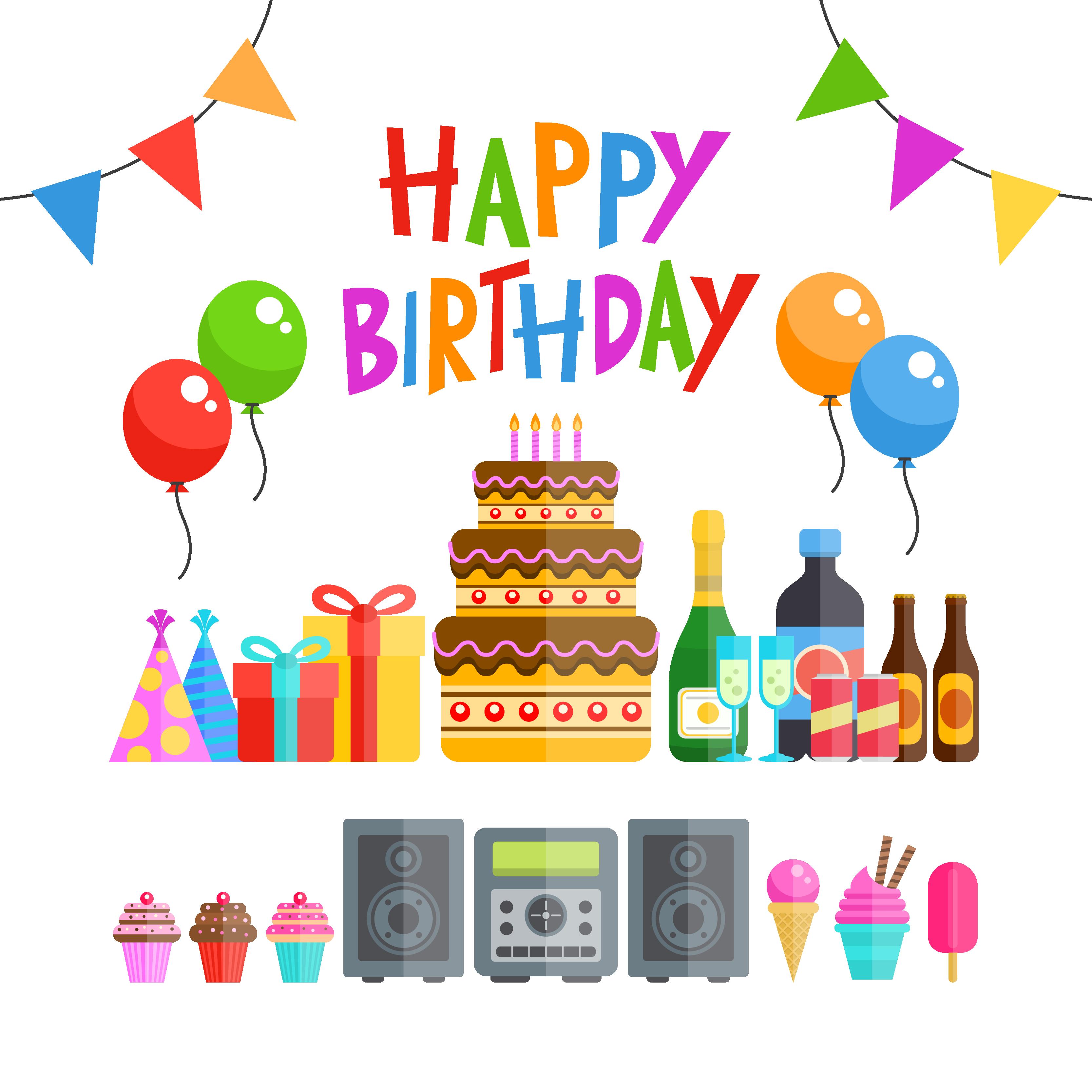 3333x3333 Birthday Cake Party Euclidean Vector