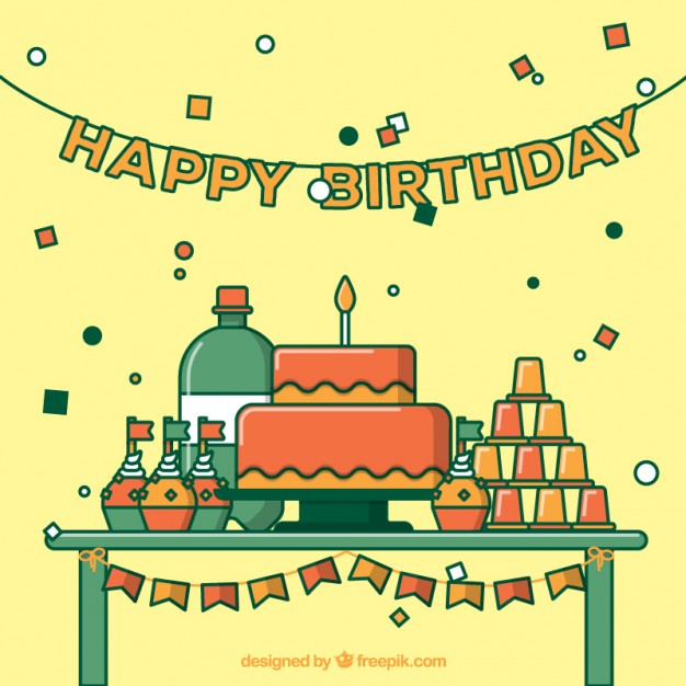 626x626 Cute Birthday Party Vector Free Download
