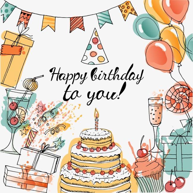 650x649 Vector Decorative Birthday Celebration Party, Birthday Clipart