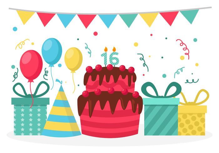 700x490 Birthday Party Vector