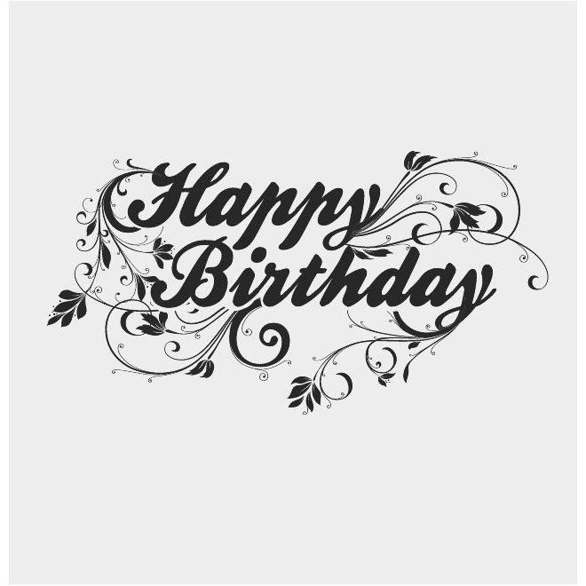 660x660 Free Happy Birthday Vector Letters.ai Psd Files, Vectors