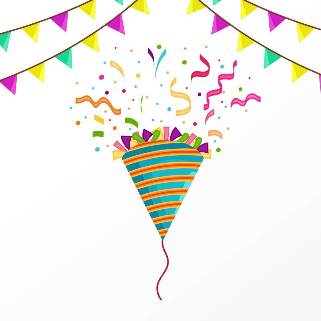 1280x1280 Free Vector Happy Birthday Vector Illustration