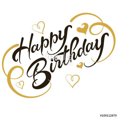 500x500 Greeting Card, Happy Birthday, Vector Stock Image And Royalty