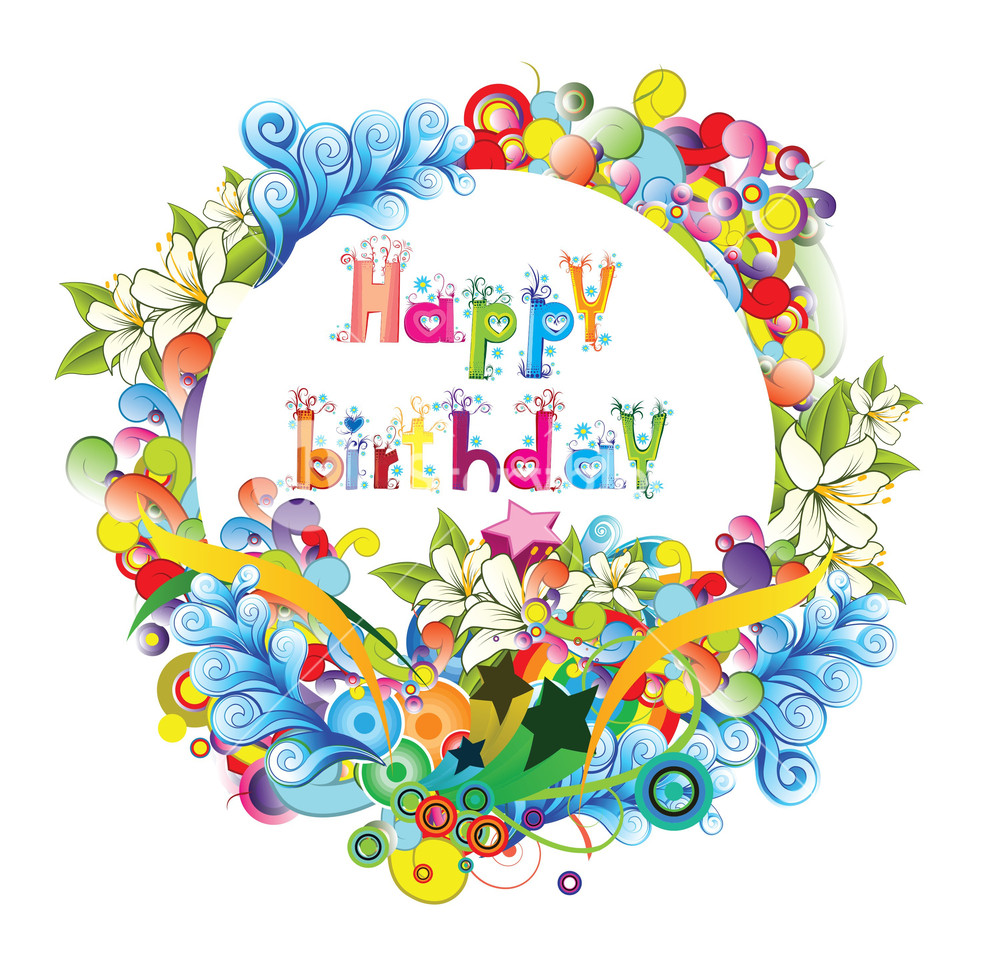 1000x963 Happy Birthday Vector Illustration Royalty Free Stock Image