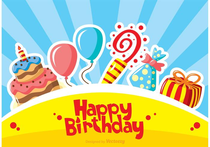 700x490 Happy Birthday Vectors