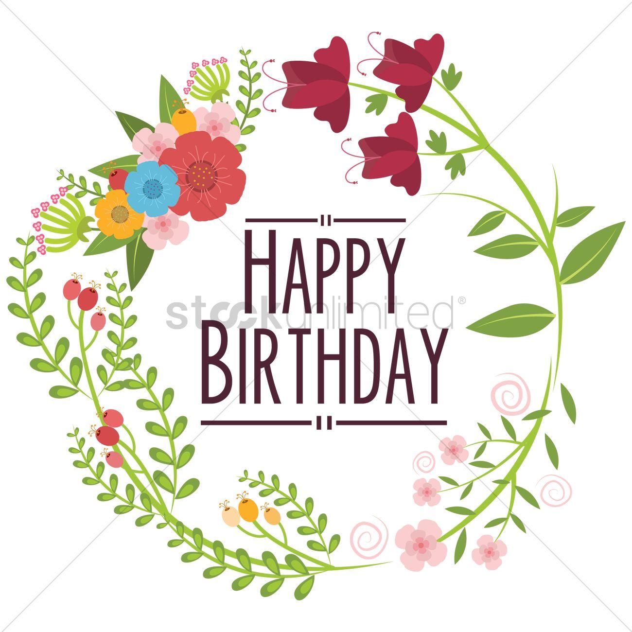 1300x1300 Happy Birthday Vector Image