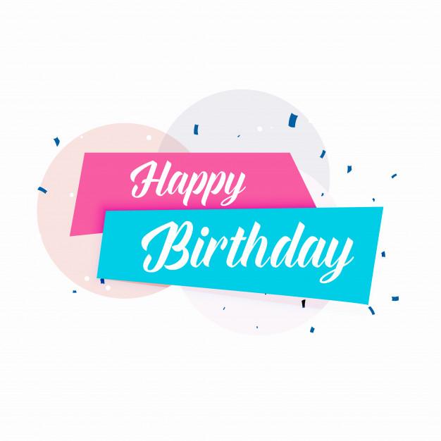 626x626 Happy Birthday Vector Simple Card Design Vector Free Download