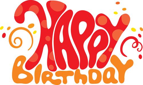 500x299 Creative Happy Birthday Design Elements Vector Art 02 Free Download