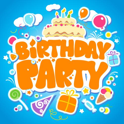 500x500 Creative Happy Birthday Design Elements Vector Art 03 Free Download
