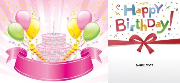 600x276 Happy Birthday Free Vector Download (5,283 Free Vector) For