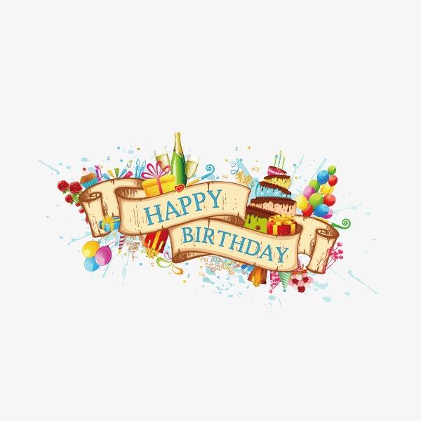 600x600 Holiday Elements,colored Ribbon,balloon,vector,happy Birthday