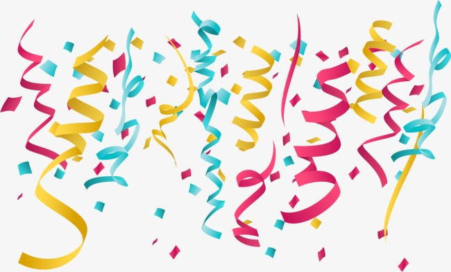 650x392 Vector Birthday Party Ribbons, Birthday Vector, Party Vector