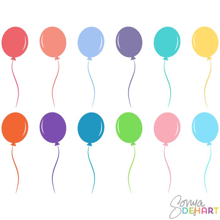700x700 Vector Clip Art Birthday Party Balloons