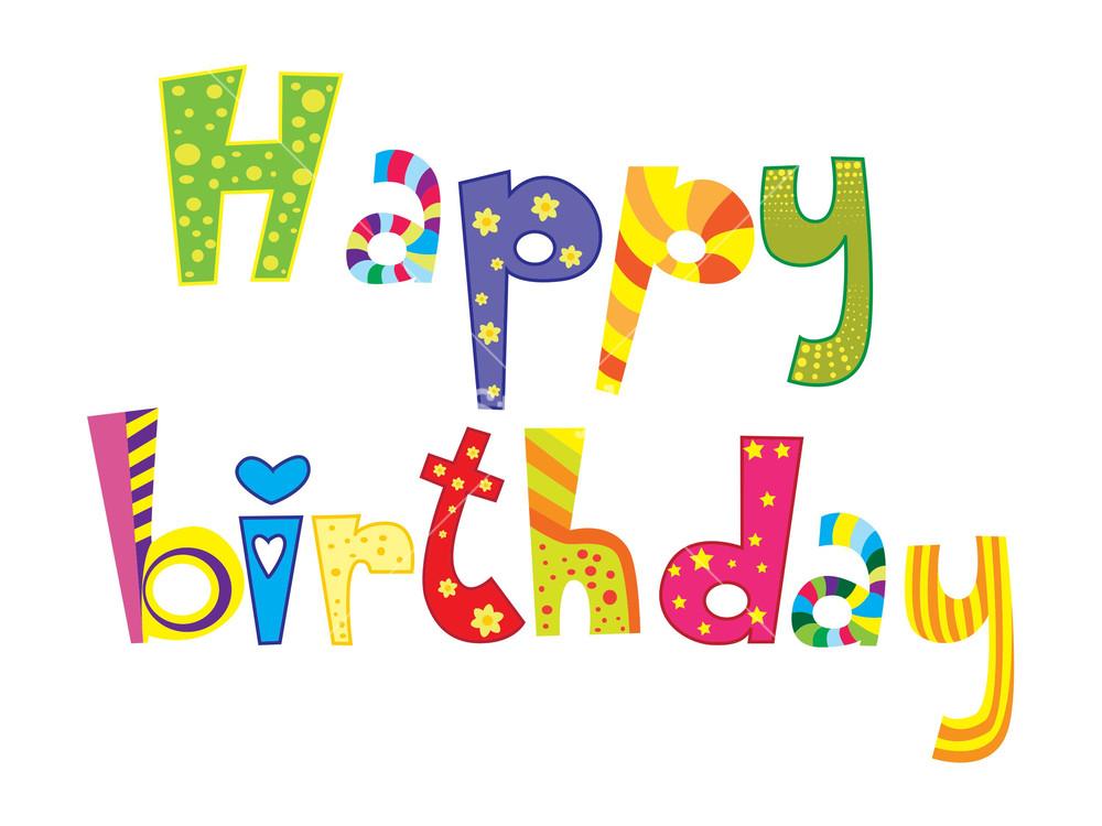 1000x750 Vector Happy Birthday Illustration Royalty Free Stock Image