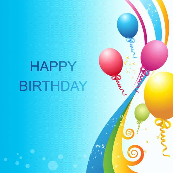 600x600 Free Birthday Card With Images Awesome 320 Happy Birthday Vector