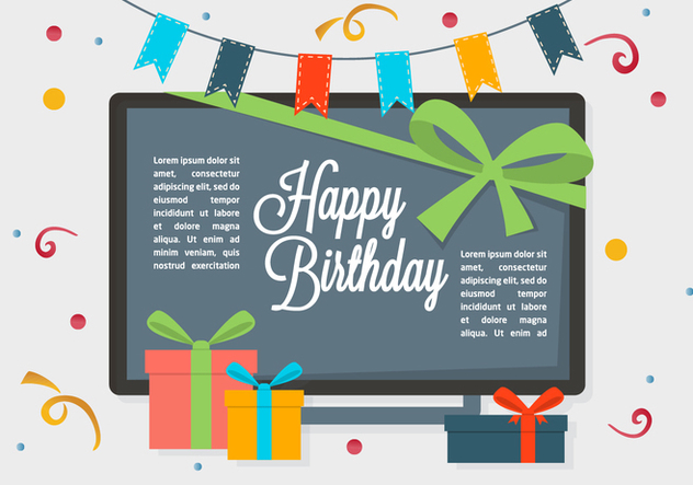 632x443 Free Happy Birthday Vector Background Free Vector Download 350357