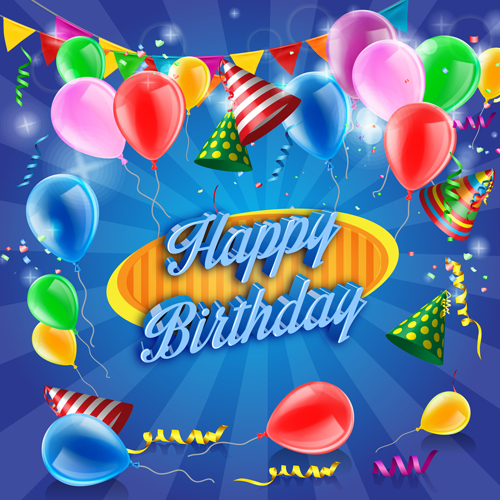 500x500 Free Vectors Down Confetti With Colored Balloons Birthday