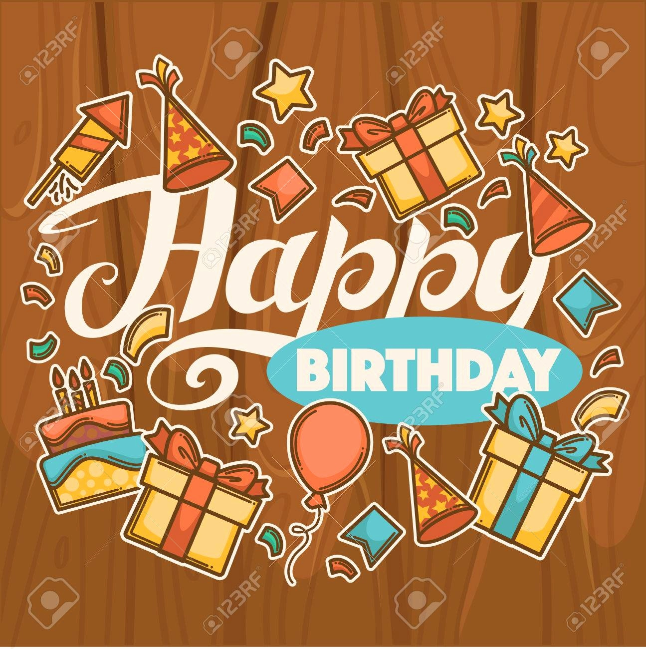 1295x1300 50 Awesome Stock Free Vector Birthday Card Template Birthday