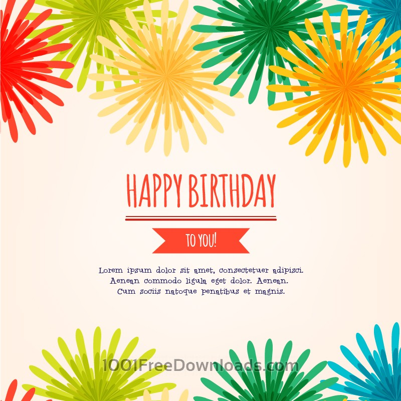 800x800 Free Vectors Happy Birthday Vector Illustration Backgrounds