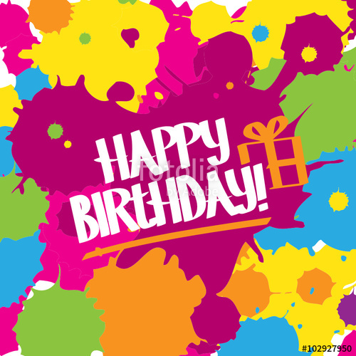 500x500 Happy Birthday Vector Graffiti Letters Card Stock Image And