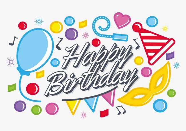 650x456 Happy Birthday Creative Vector, Vector Creative, Birthday