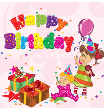 334x352 Vector Happy Birthday Pink Card With Owl And Balloon Free Vector