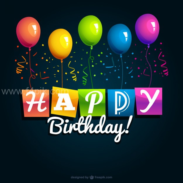 626x626 Vector ] Happy Birthday Vector Background Free Download