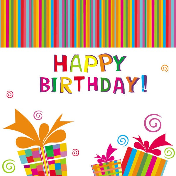 600x600 Beautifully Hand Painted Elements Birthday Vector Material My