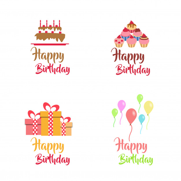 626x626 Birthday Vector Logo Design Collection Vector Free Download