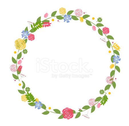 451x439 Floral Frame For Wedding And Birthday Vector Illustration Stock
