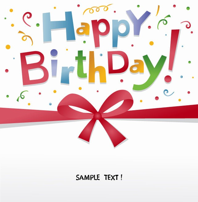 642x656 Happy Birthday Greeting Card Vector Free Vector Eps10