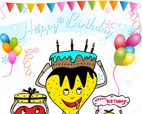 600x482 Happy Birthday Vector Vector Amp Photoshop Brushes Stock Graphic