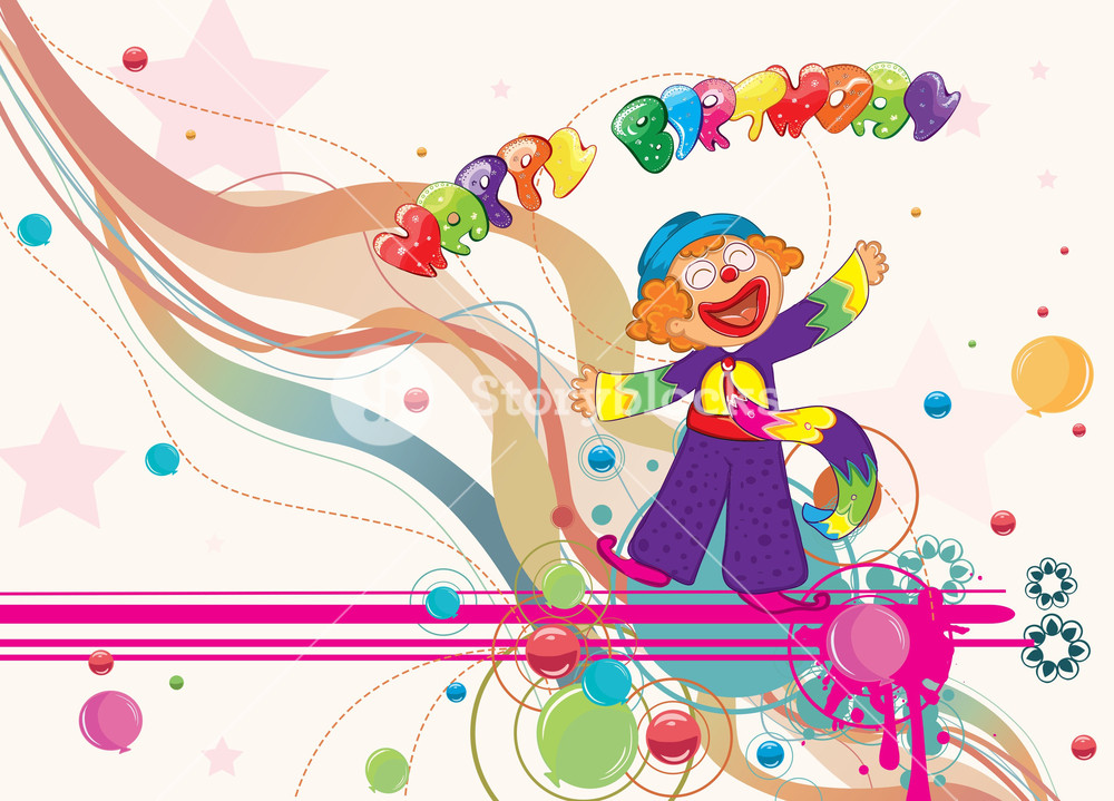 1000x719 Happy Birthday Vector Illustration Royalty Free Stock Image