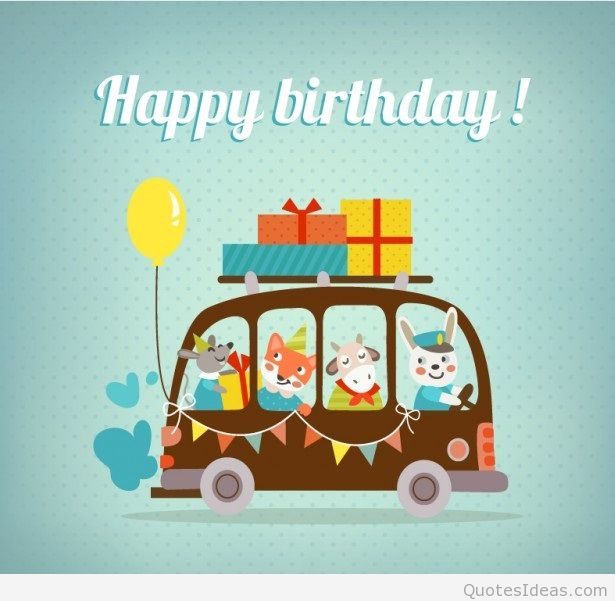 615x601 Happy Birthday Vector Cartoon