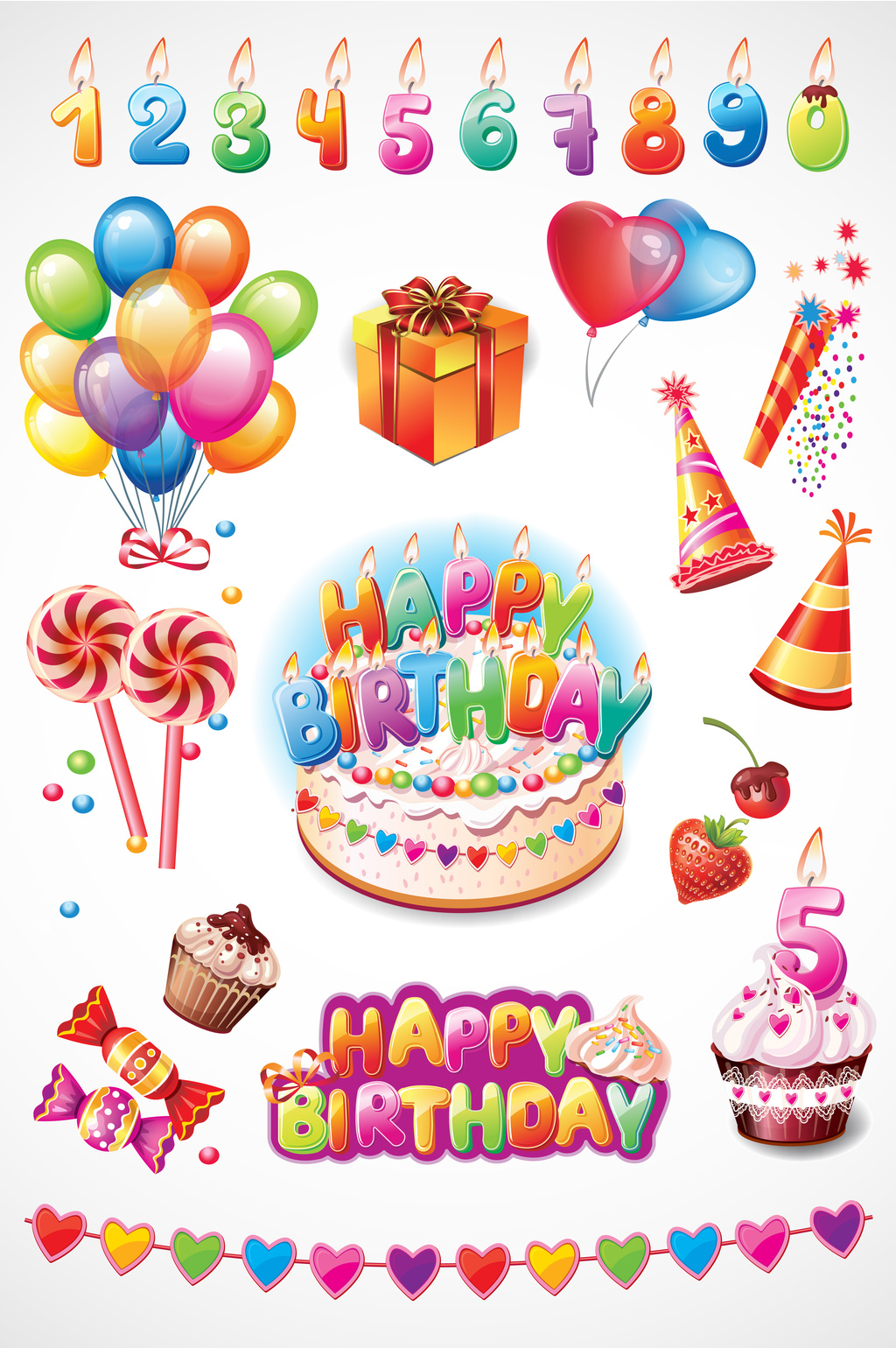 1024x1540 Happy Birthday Vector] Png Images,vector And Psd Free