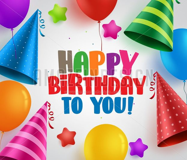 623x531 Happy Birthday Vector Greeting Card Background Design With