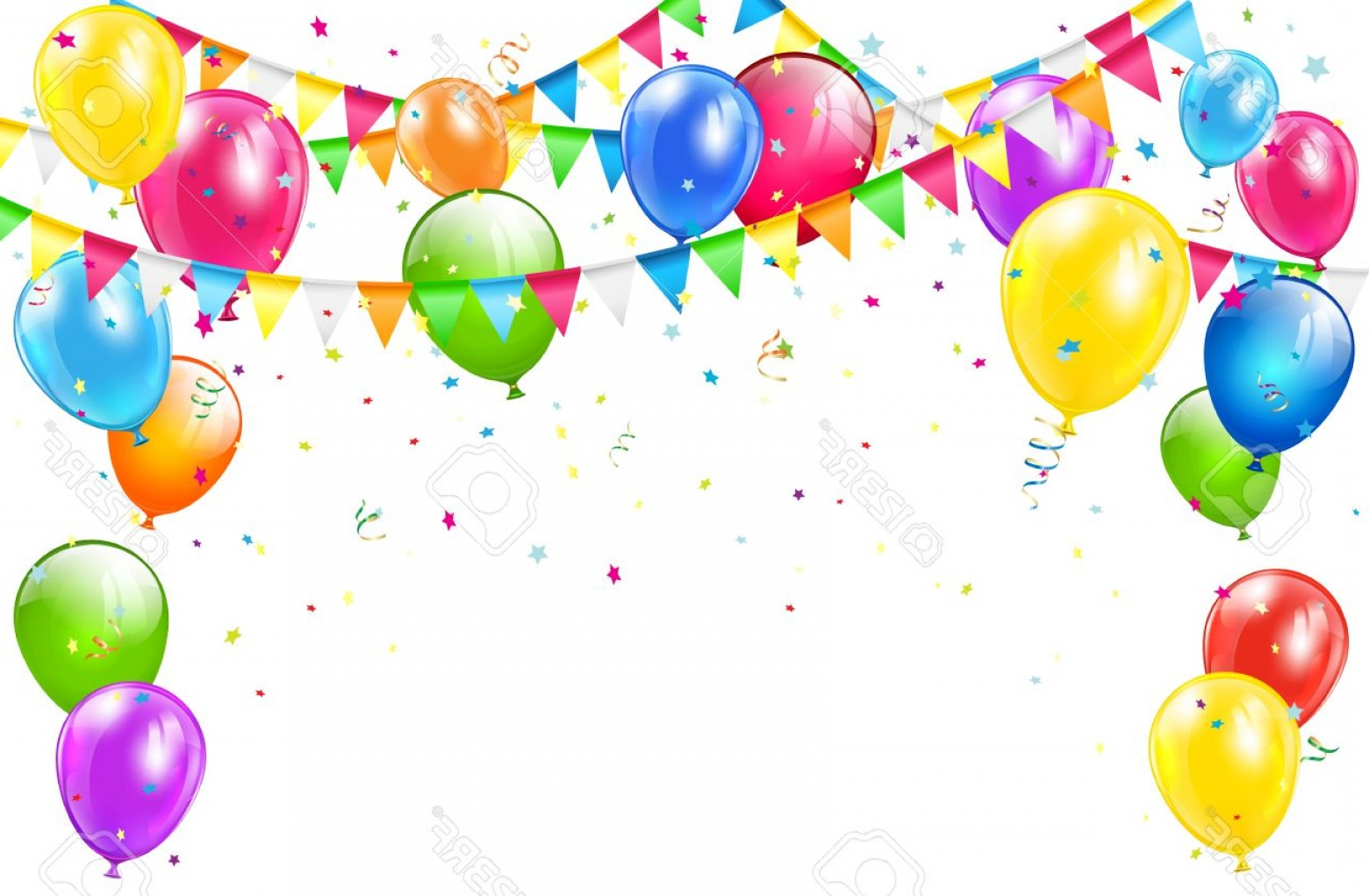 1560x1021 Photostock Vector Happy Birthday Background With Set Of Colorful