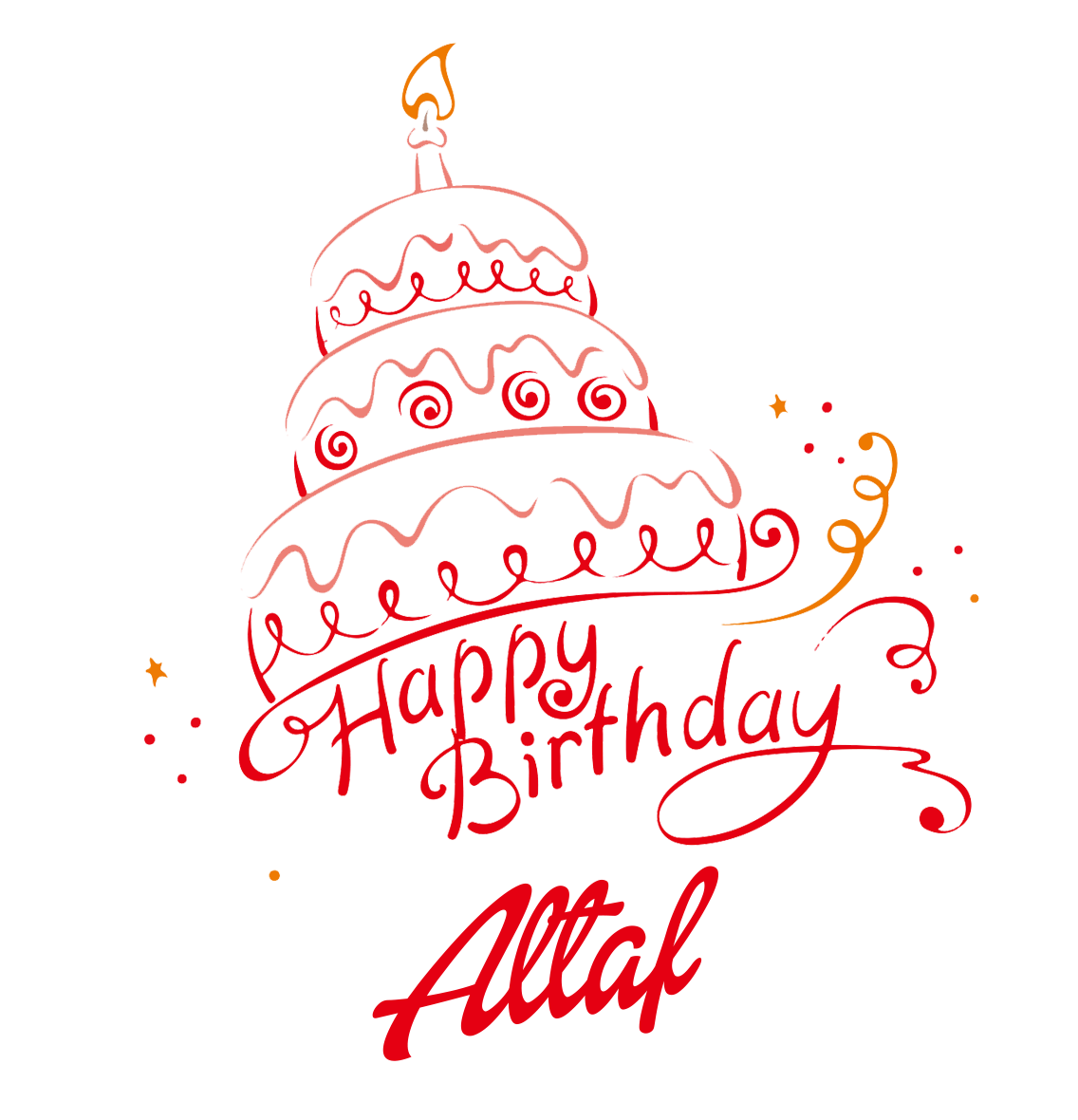 1136x1180 Altaf Happy Birthday Vector Cake Name Png