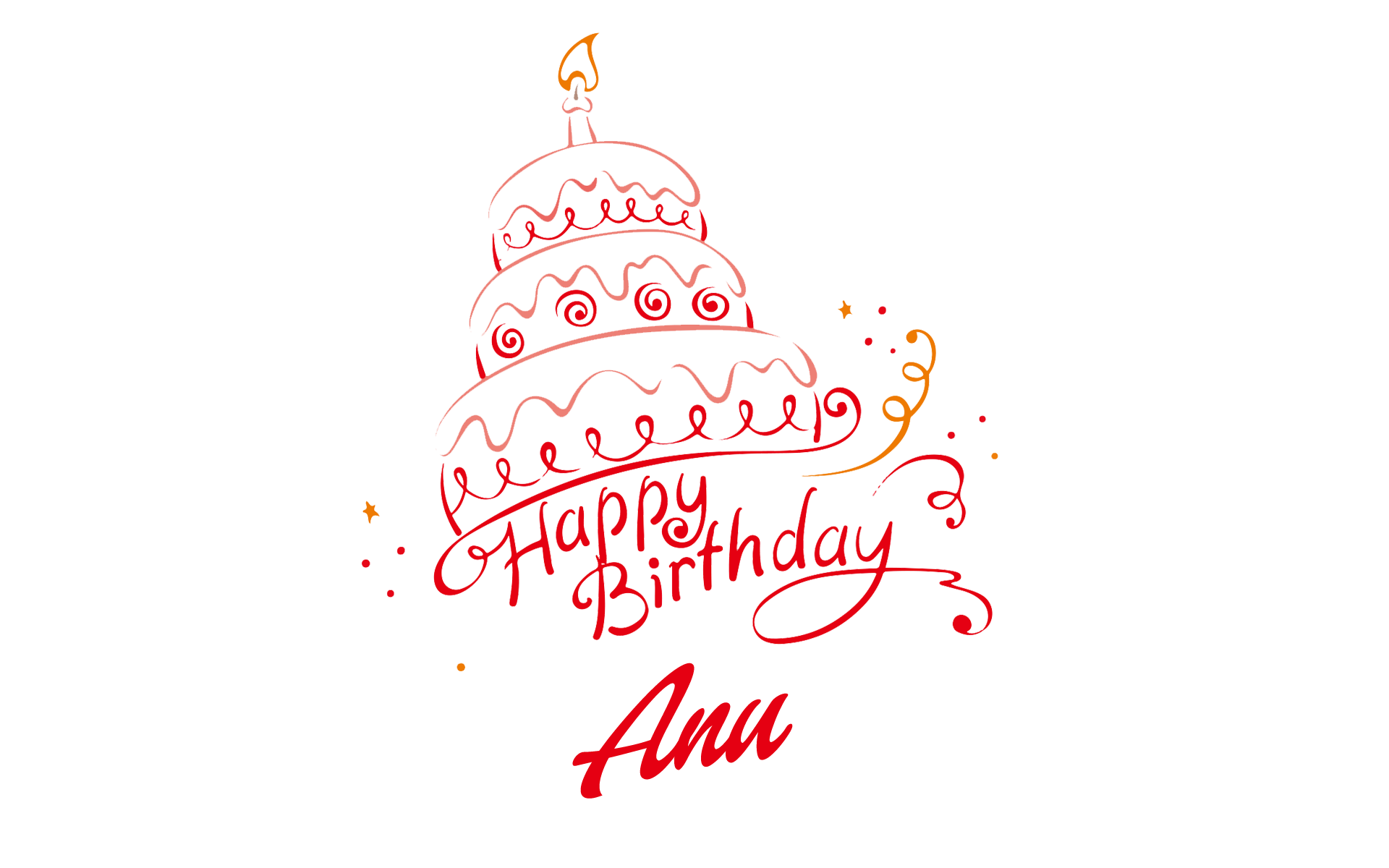1920x1200 Anu Happy Birthday Vector Cake Name Png