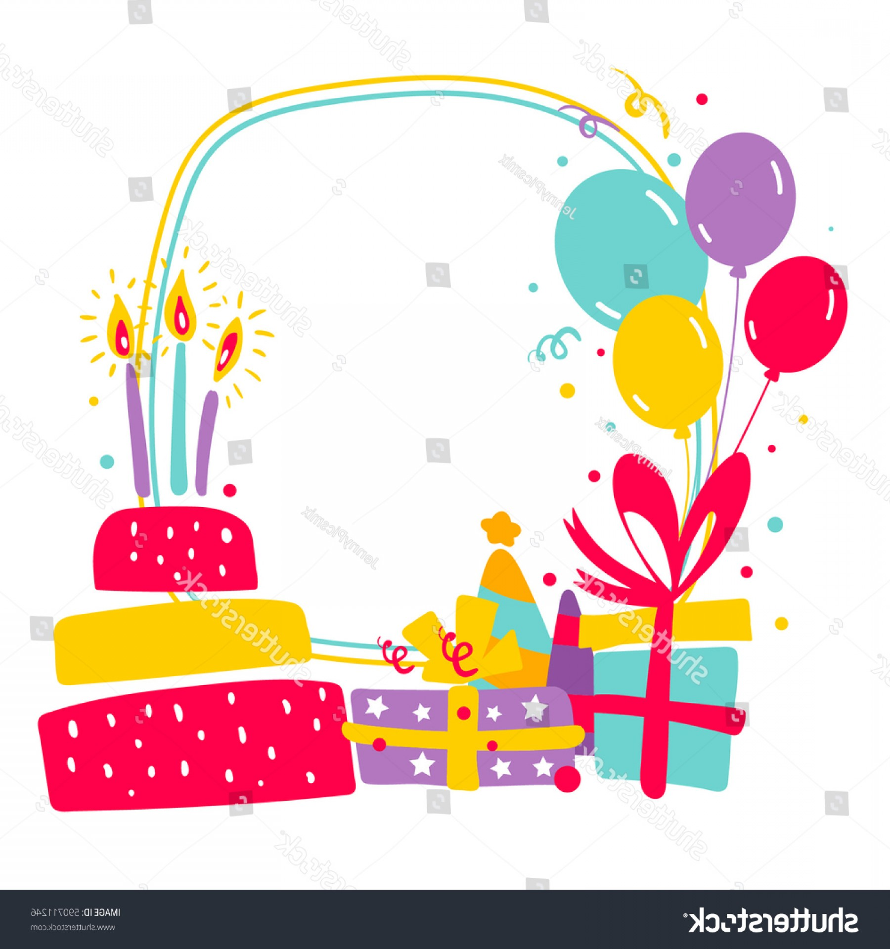 1800x1920 Birthday Vector Graphics Borders Lazttweet