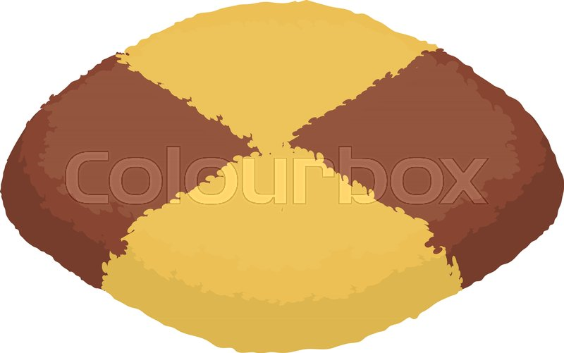 800x501 Chocolate Biscuit Icon. Isometric Illustration Of Chocolate