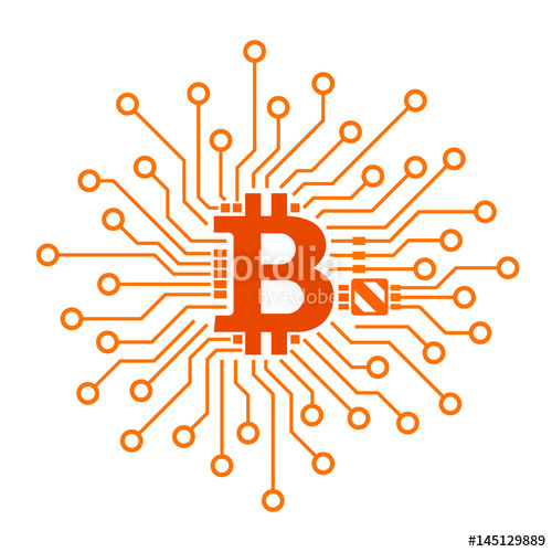 500x500 Bitcoin Vector Icon Stock Image And Royalty Free Vector Files On