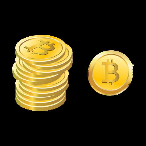 500x500 Bitcoins Vector Image Public Domain Vectors